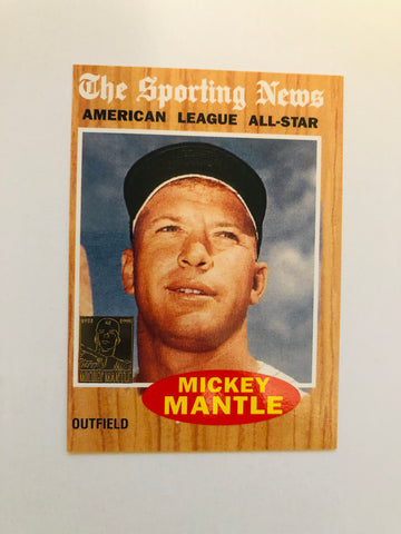 1996 Topps Mickey Mantle insert baseball card