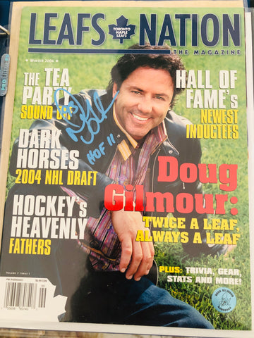 Toronto Maple Leafs Doug Gilmour signed leafs nation magazine with COA