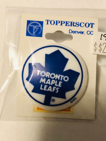 Toronto Maple Leafs hockey vintage button 1980s