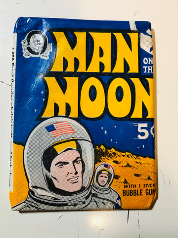 1969 Opc Man On the Moon cards rare pack