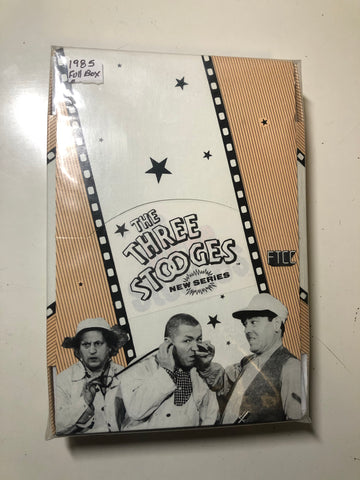 1985 Three Stooges series 2 cards full box