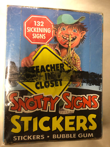 1986 Snotty Signs Stickers 48 packs rare box