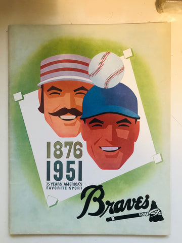 1951 Boston Braves baseball program