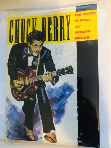 Chuck Berry rockstar legend rare signed book with COA