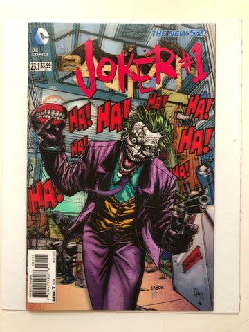 The Joker batman 3D comic cover comic book