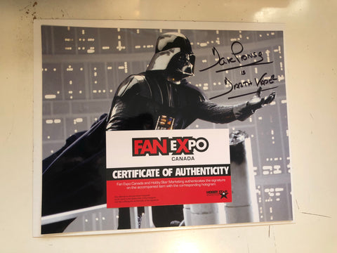 Star Wars Darth Vader David Prowse Fanexpo certified autograph