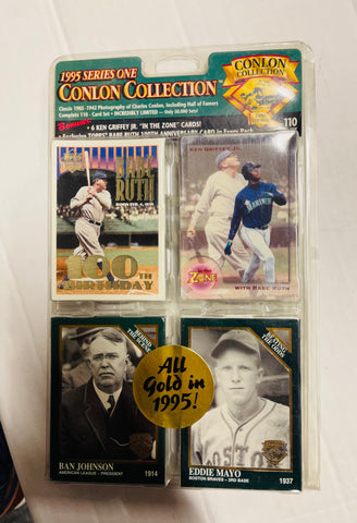 1995 Conlon baseball series one factory sealed cards