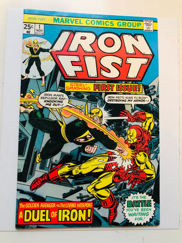 Iron Fist #1 high grade comic book 1975