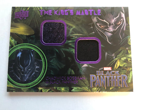 Black Panther movie rare double memorabilia insert card