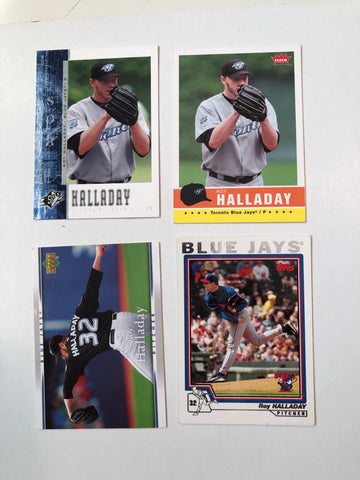 Roy Halladay 4 cards baseball lot deal