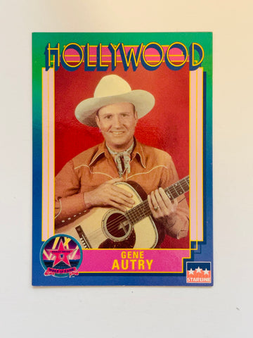 TV Westerns Gene Autry rare autograph card with COA