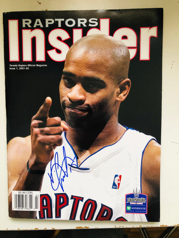 Toronto Raptors basketball rare Vince Carter signed program with COA
