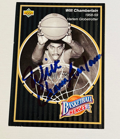 Wilt Chamberlain very rare NBA legend autograph basketball card with COA