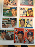 1950s Topps baseball cards 9 cards lot deal