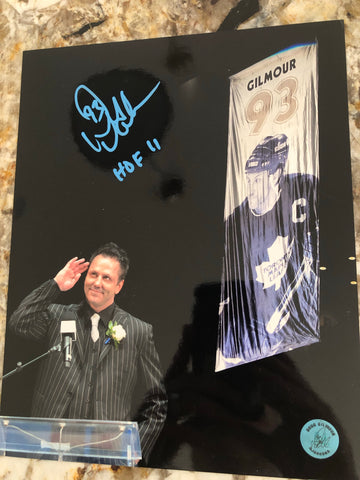 Toronto Maple Leafs hockey Doug Gilmour signed photo with COA