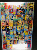 Sailor Moon anime foil uncut card sheet #61/95  from 1990