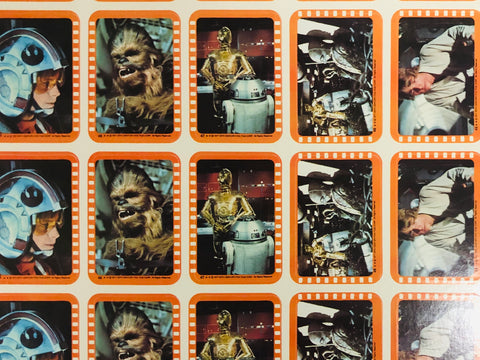 1977 Star Wars series 2 stickers rare full uncut sheet