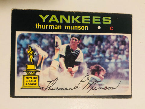 1971 opc Thurman Munson rare baseball card