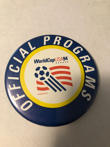 1994 World Cup Soccer official button