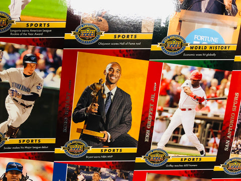 2009 Upper Deck rare 20th anniversary multi sports uncut cards sheet