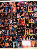 Wrestling WCW rare uncut cards sheet 1995