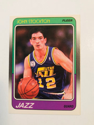 1988 Fleer basketball John Stockton rookie card