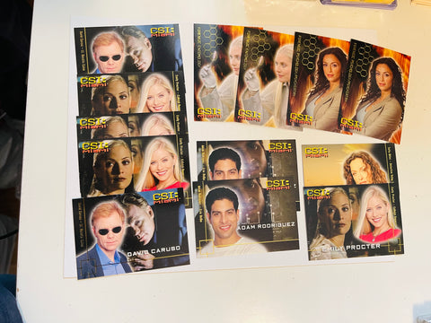 CSI Miami TV show 13 inserts cards lot deal 2004