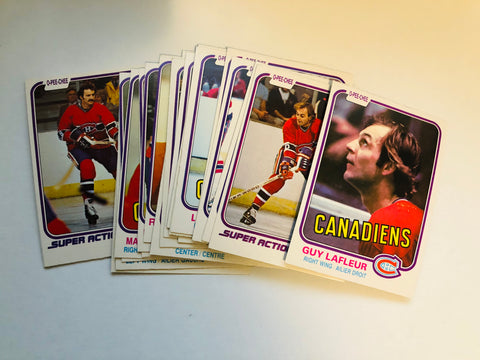 Montreal Canadiens hockey cards opc team set 1981
