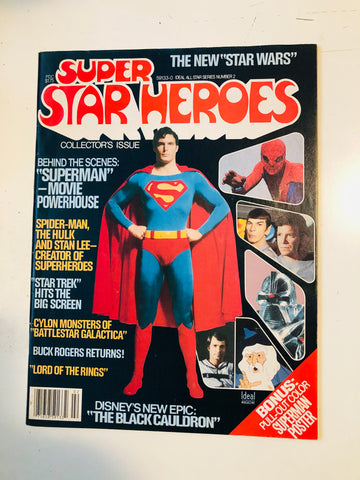 Super Star Heroes vintage scifi movie magazine 1978