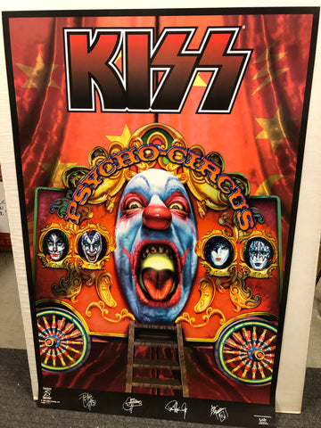 Original vintage Kiss concert poster from 1990s