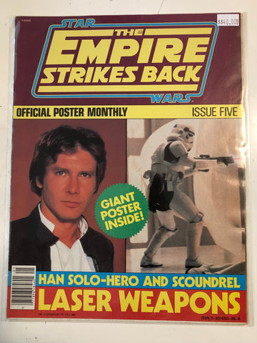 Empire Strikes Back original poster folded magazine 1983