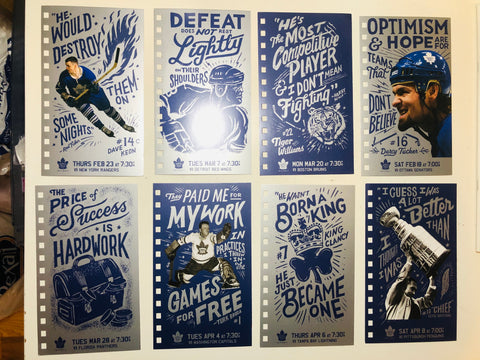 Toronto Maple Leafs hockey unique postcard set