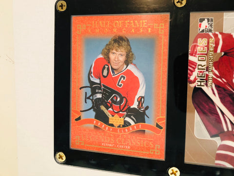 Bobby Clarke rare signed card in holder with COA