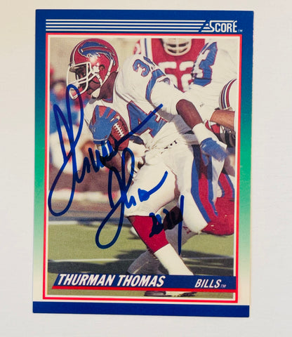 Thurman Thomas Buffalo Bills autograph football card with COA