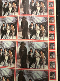 Star Wars Empire Strikes Back rare series 1 stickers uncut sheet