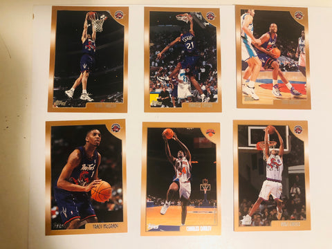 Vince Carter Toronto Raptors rookie card and team set 1998