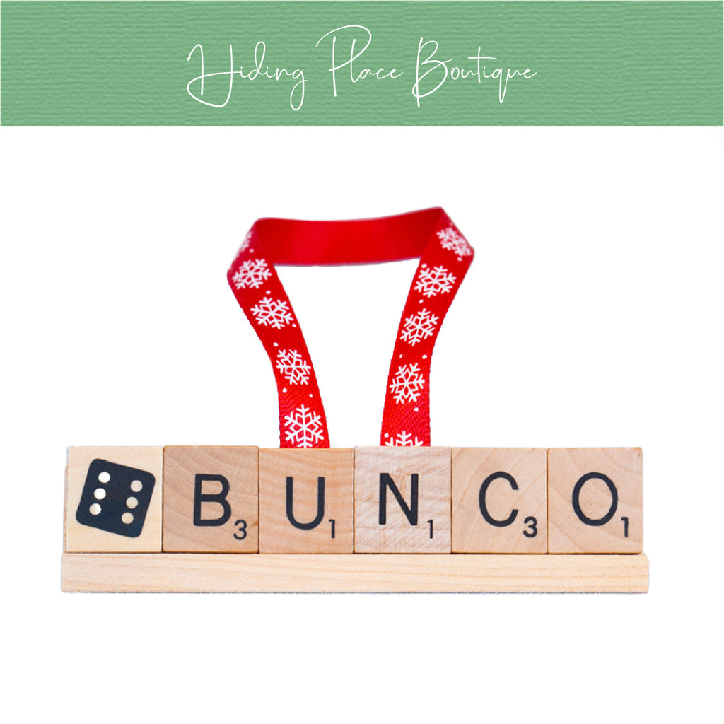 Bunco Christmas Ornament
