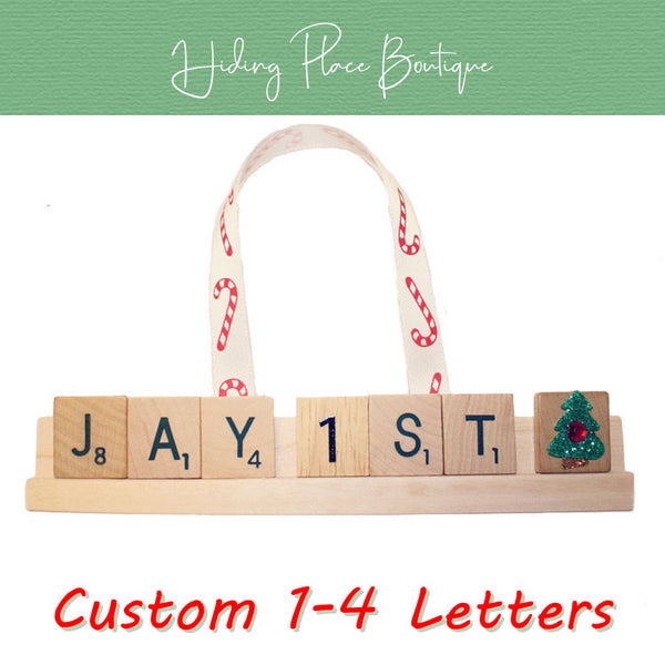 Custom Baby's First Christmas 1 - 4 Letter Ornament