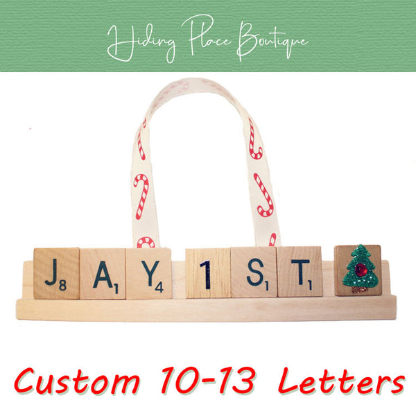 Custom Baby's First Christmas 10 - 13 Letter Ornament