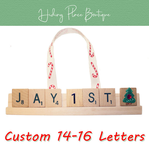 Custom Baby's First Christmas 14 -16 Letter Ornament