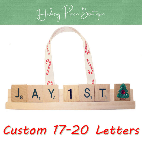 Custom Baby's First Christmas 17 - 20 Letter Ornament
