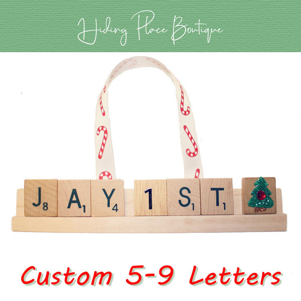 Custom Baby's First Christmas 5 - 9 Letter Ornament