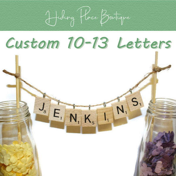 Custom Hanging 10 - 13 Letters Wedding Cake Topper