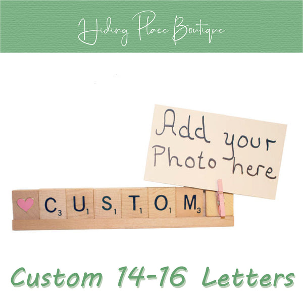 Custom Name 14 - 16 Letter Photo Holder