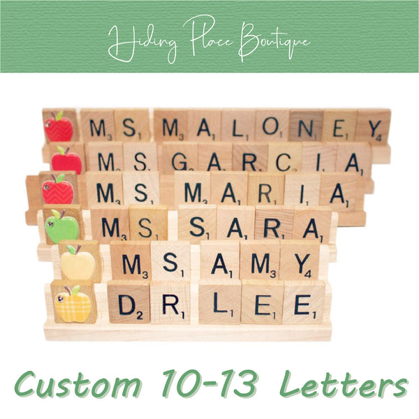Custom Teacher Name 10 - 13 Letter Name Plate