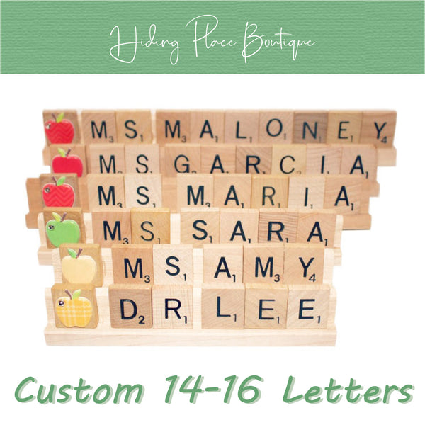 Custom Teacher Name 14 - 16 Letter Name Plate