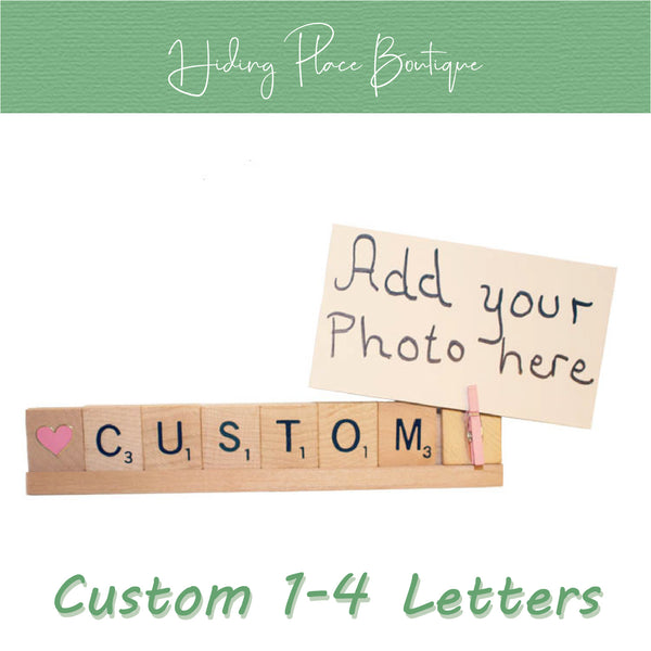 Custom Name 1 - 4 Letter Photo Holder
