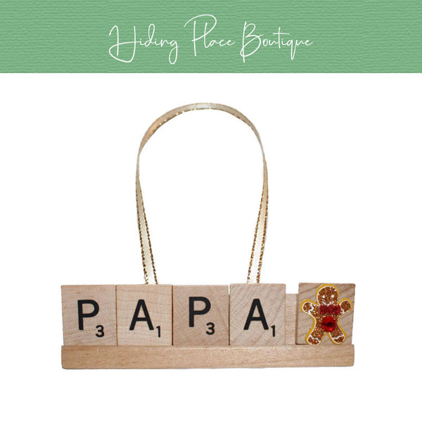 PaPa Christmas Ornament