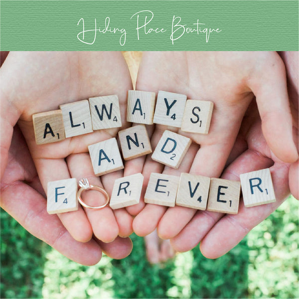 Always And Forever Scrabble Letters - Engagement Picture Prop