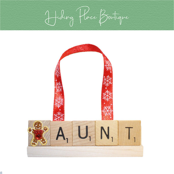 Aunt Christmas Ornament
